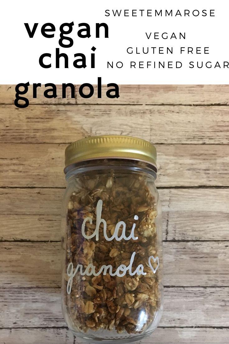 vegan chai granola